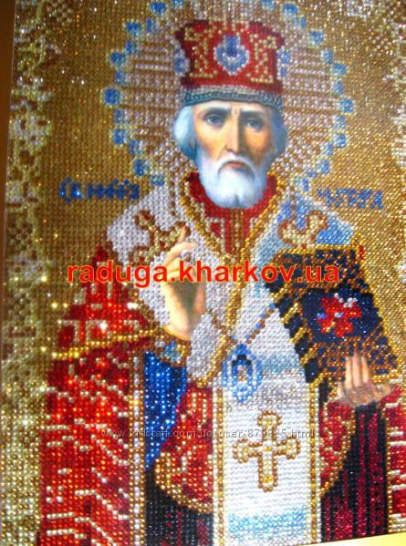 Николай Чудотворец, Николай Угодник, Алмазная вышивка, икона, лик, образ, вышивка