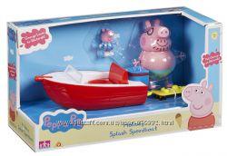 Игровой набор Свинка Пеппа Скоростная лодка папы Свина. Оригинал. Из Англии