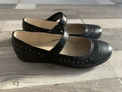 Кожаные туфли черные Lapsi. Школьные. 33 р, 21,5cм