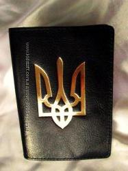 Качественная обложка на паспорт из натуральной кожи 100- тиснение золотом