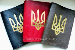 Кожаная патриотическая обложка на паспорт - 100 проц. качество Скидки Киев
