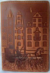 Обложки на паспорт кожаные большой выбор авторское тиснение. Скидки. Киев.