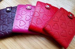 Маленькие кожаные кошельки Сердца, Орнамент, Завитки, Лоза, Собаки. Киев