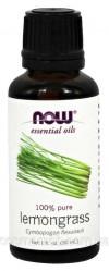 NOW Foods Эфирное масло Лемонграсса, Lemongrass oil 100 pure, 30 ml