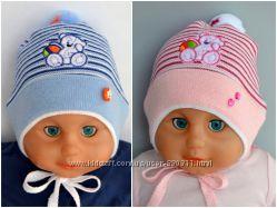 Шапочка детская для малышей 6-12мес
