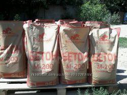 Сухой бетон, фасованный 25 кг. марка м200 производство