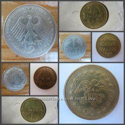 Монеты Германии, Турции, ЮАР, Венгрии, Польши, Британии, жетон НМ