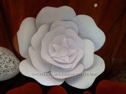 Декоративные цветы любого размера из бумаги
