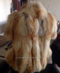 Полушубок с кор рукавом, лиса, 38 р СРОЧНОцену снизила