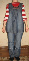 Для беременных джинсы  туника комплект
