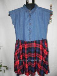 Новое комбинированое джинсовое платье