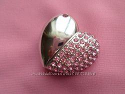 Флешка ювелирная, с кристаллами, 8 Gb