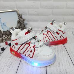 Бесплатная доставка Модные светящиеся утеплённые ботиночки унисекс