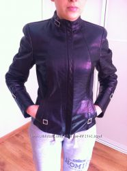кожаный пиджак woger. s