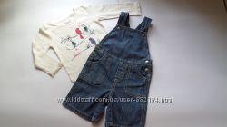 Комбинезон шорты Prenatal и реглан Oshkosh в идеальном состоянии