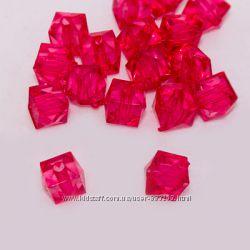 Бусины граненый кубик цвета разные для hand made украшений