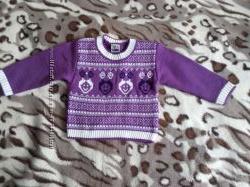 Модный свитерок для девочки 1 года