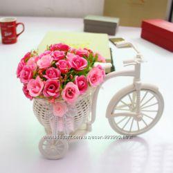Трёхколёсный велосипед корзина,  декор для дома