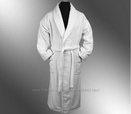 Халаты махровые белые, пушистые. Унисекс. Турция. Размер 48- 56. Доставка.