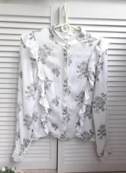 Нежная блуза- рубашка h&m