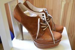 Ботинки женские р. 39 кожаные. Ботильоны