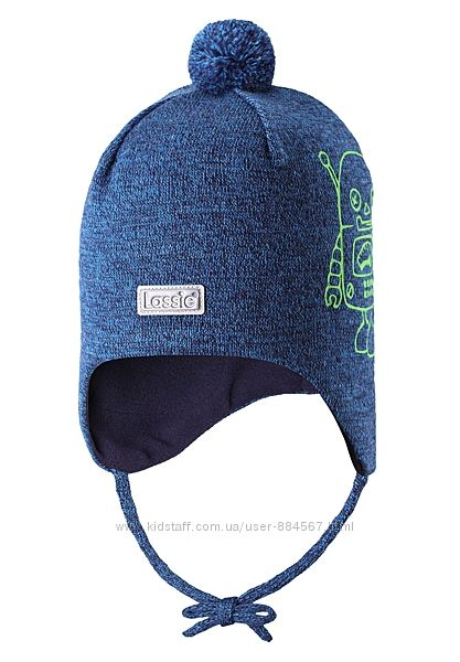 Зимняя шапка-бини для мальчика Lassie by Reimа. Размеры 38 - 52.