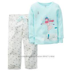 Пижамы Carters для девочек - флис и хлопок 18м
