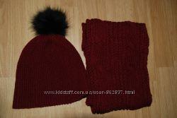 Комплект шапка та шарф