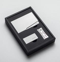 Подарочный набор для мужчины ZINGER визитница клип для денег