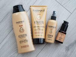 Набор шампунь, маска и спрей дл волос с кератином keratin therapy farmasi