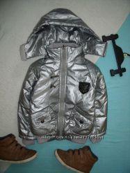 Очень крутая куртка металлик 110р