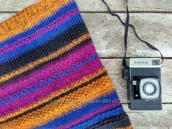 Вязаный шарф-снуд ручной работы