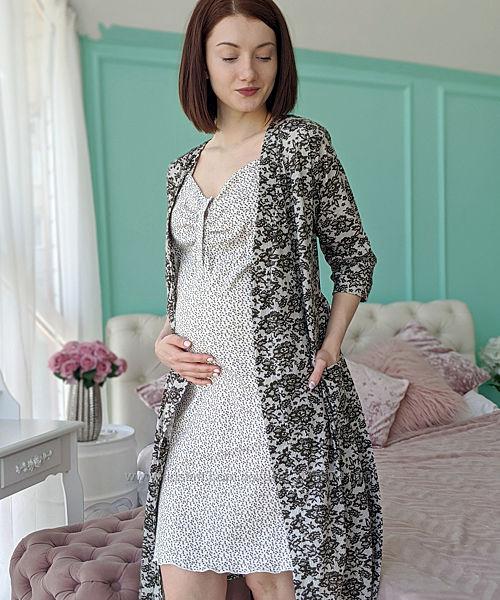 Халат и сорочка для беременных и для кормящих 1382