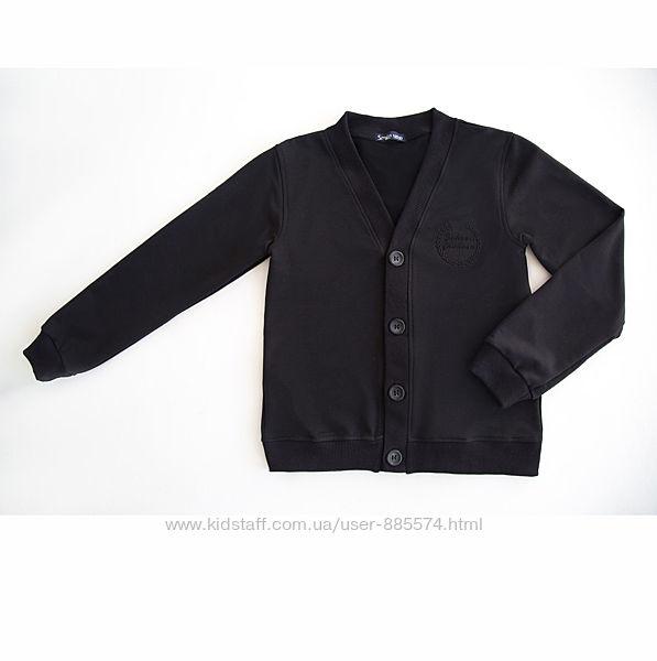 Качественный пуловер для мальчика на пуговицах OX4-01