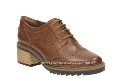 Новые кожаные туфли Clarks 40 размера Великобритания