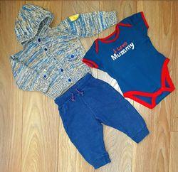 Одежда брендовая для мальчика на 6-12мес.