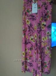 Bershka брюки-кюлоты с цветочным принтом M