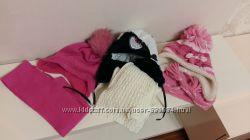 Теплые, красивые, фирменные комплекты шапки и шарфы
