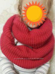 Теплый хомут-шапка