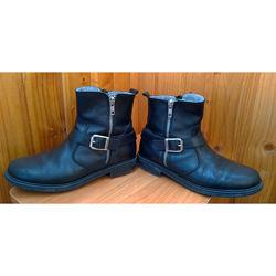 Кожаные демисезонные ботинки, сапоги Pablosky на шерсти