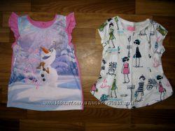 фирменные футболки, туники и майки на 3-6 лет часть 1