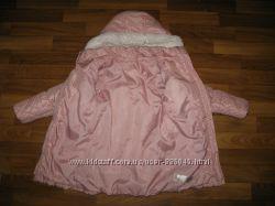 фирменные теплые куртки девочке на 4-6 лет