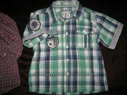 рубашки, шведки и футболки мальчику 1-3 года