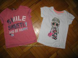 фирменные футболки, туники и майки на 3-6 лет  часть 3
