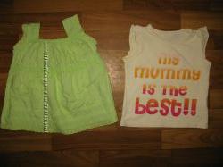 фирменные футболки, майки, ромпер девочке на 1-3 года ч 3