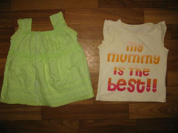 фирменные футболки, майки  девочке на 1-3 года ч 3