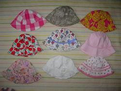 панамки кепки косынки на 0-14 лет