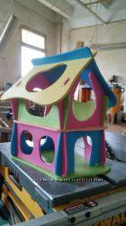 Кукольный домик в пастельных тонах очень красивый и вместительный