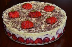 Французкий торт Фрезье с клубникой или киви по сезону
