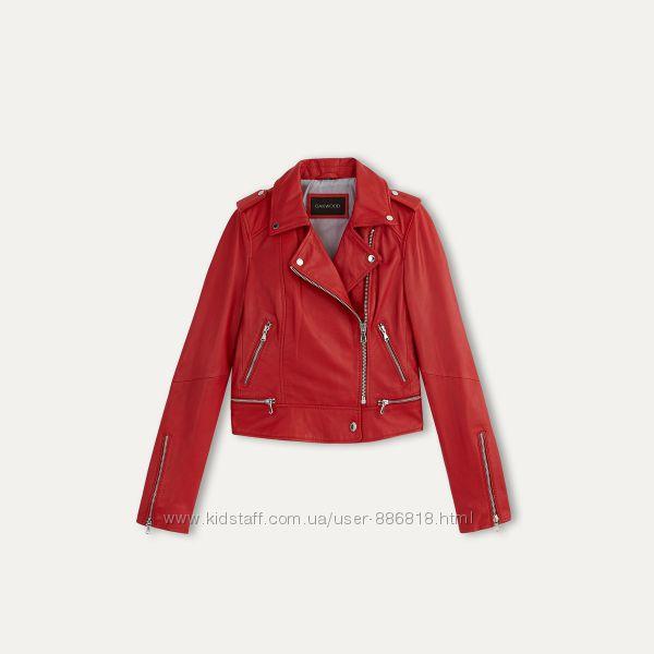 Oakwood, Франция. стильная, красная куртка-косуха из мягкой кожи M-L